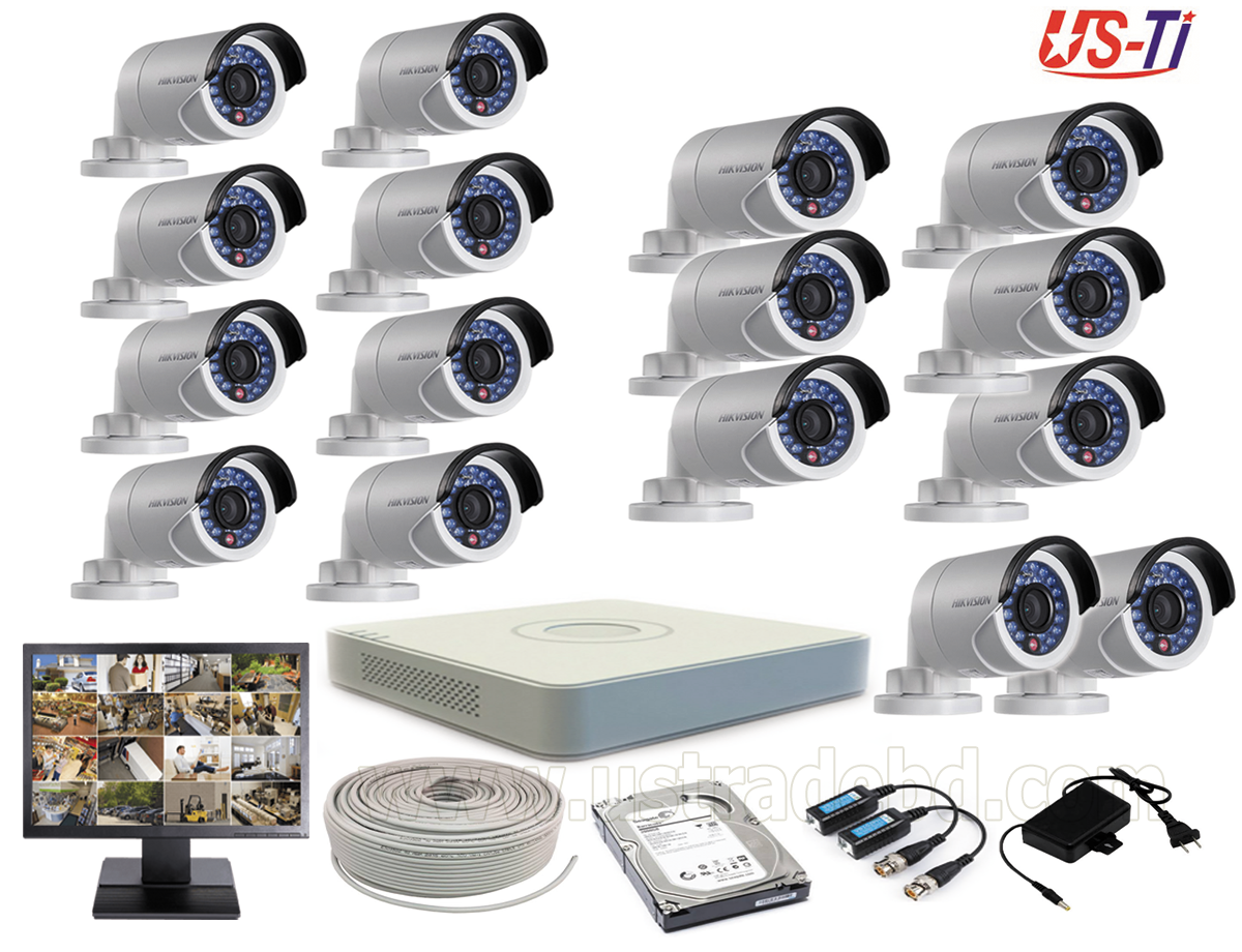 2MP Hikvision 16 Full HD CCTV Package With Monitor