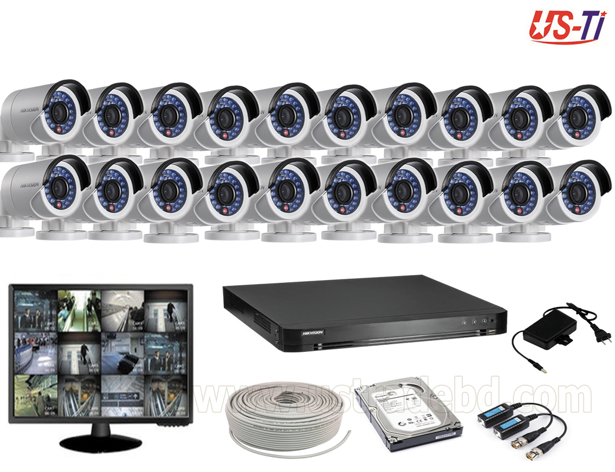 2MP Hikvision 20 Full HD CCTV Package With Monitor