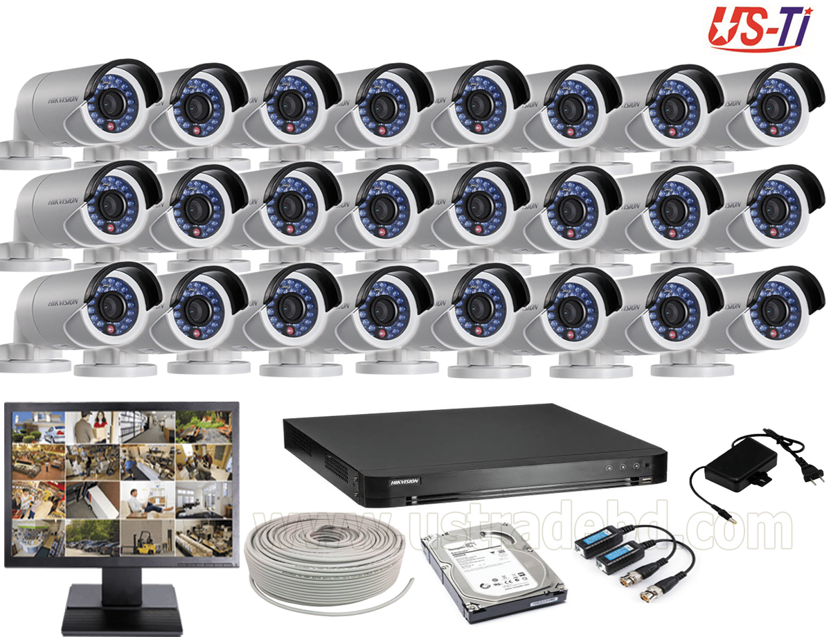 2MP Hikvision 21 Full HD CCTV Package With Monitor