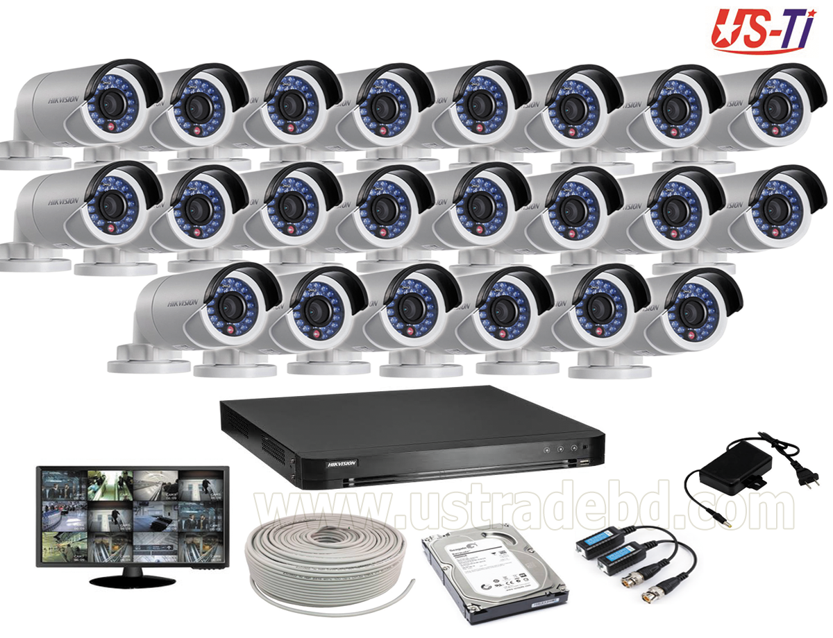 2MP Hikvision 22 Full HD CCTV Package With Monitor