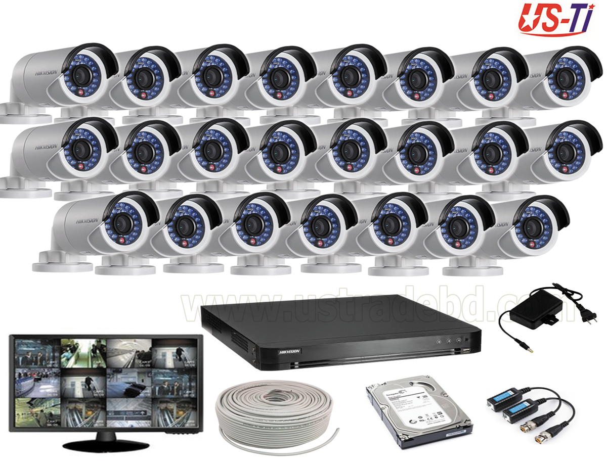 2MP Hikvision 23 Full HD CCTV Package With Monitor