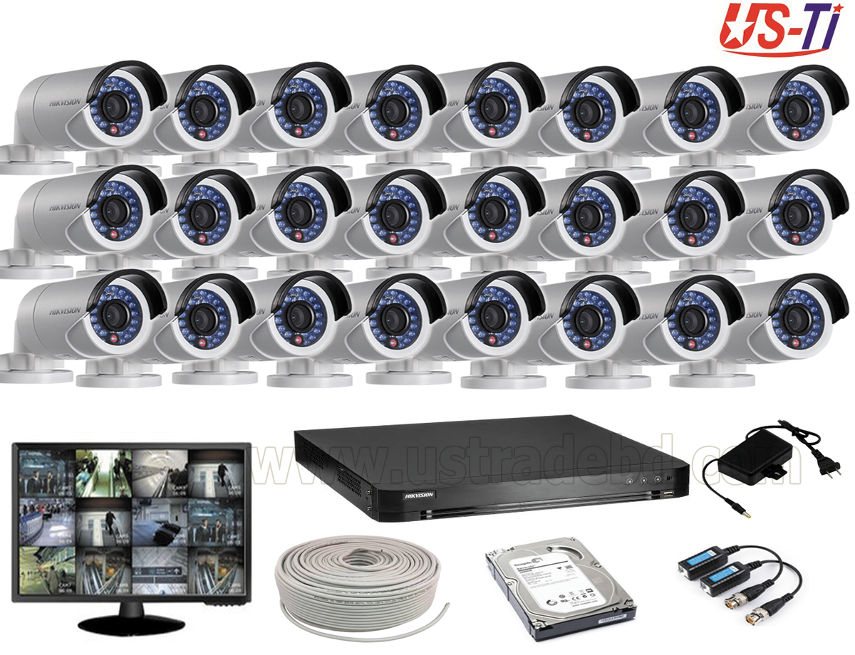 2MP Hikvision 24 Full HD CCTV Package With Monitor