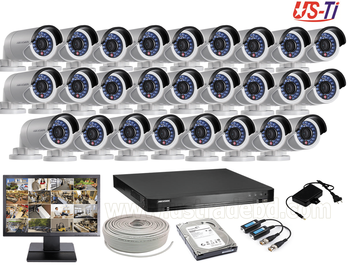 2MP Hikvision 26 Full HD CCTV Package With Monitor
