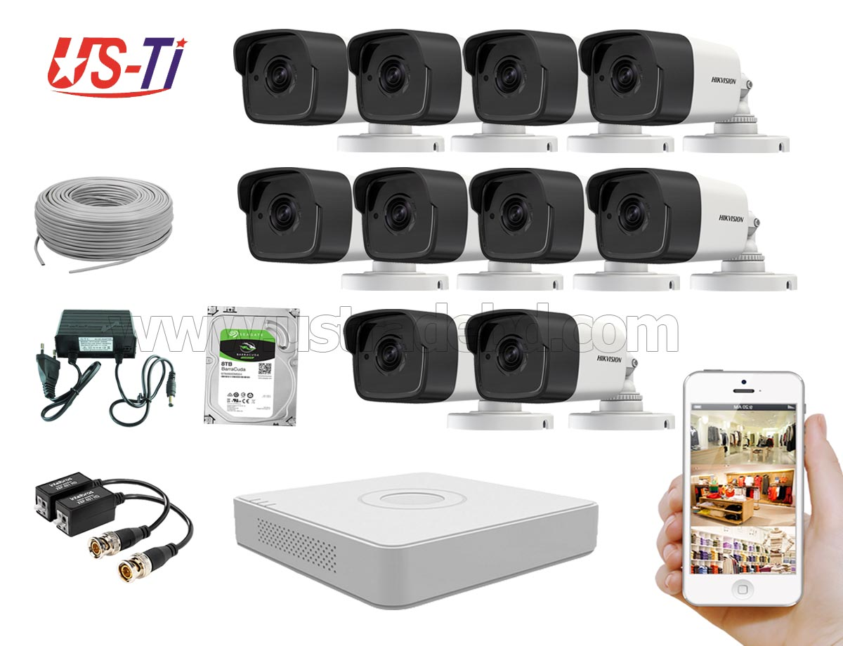 5MP Hikvision 10 Full HD CCTV Package