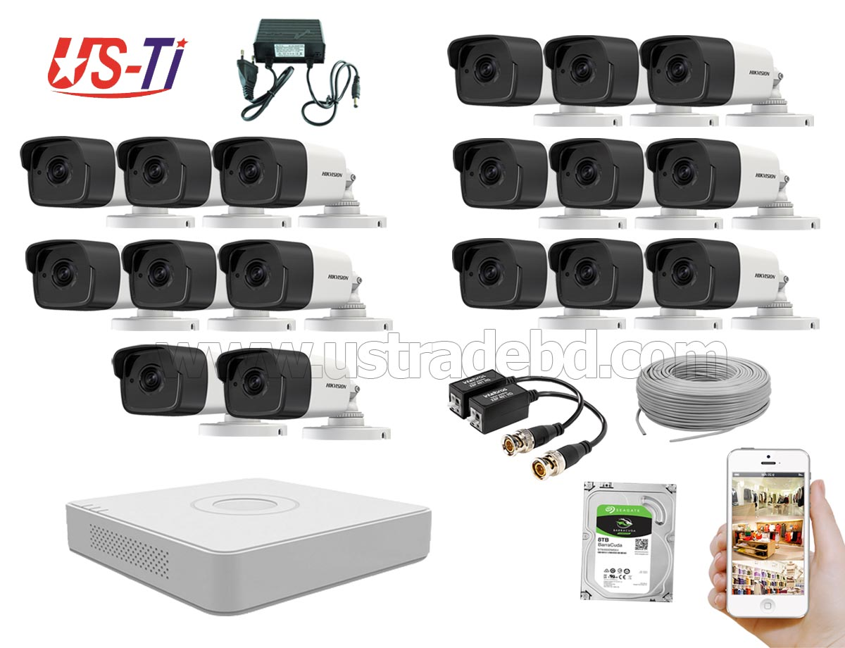 5MP Hikvision 17 Full HD CCTV Package