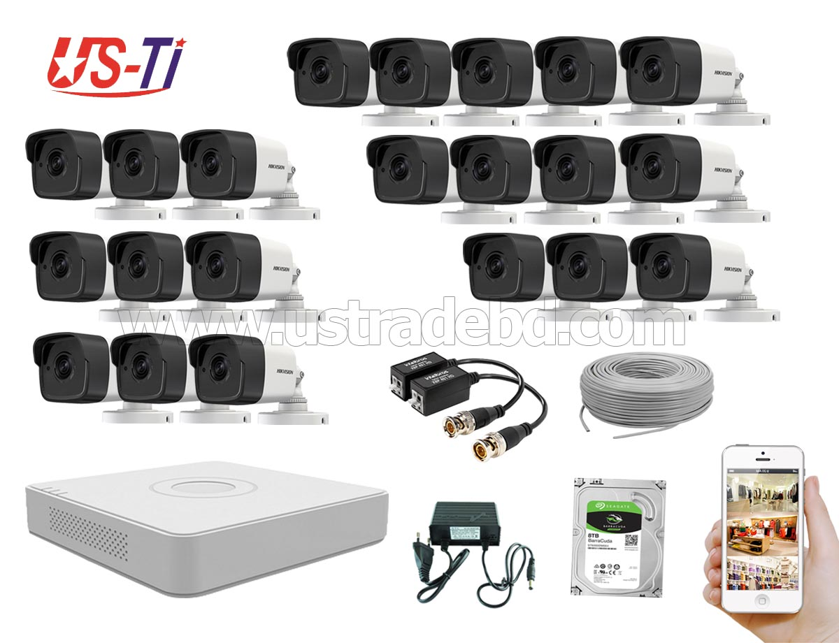5MP Hikvision 21 Full HD CCTV Package