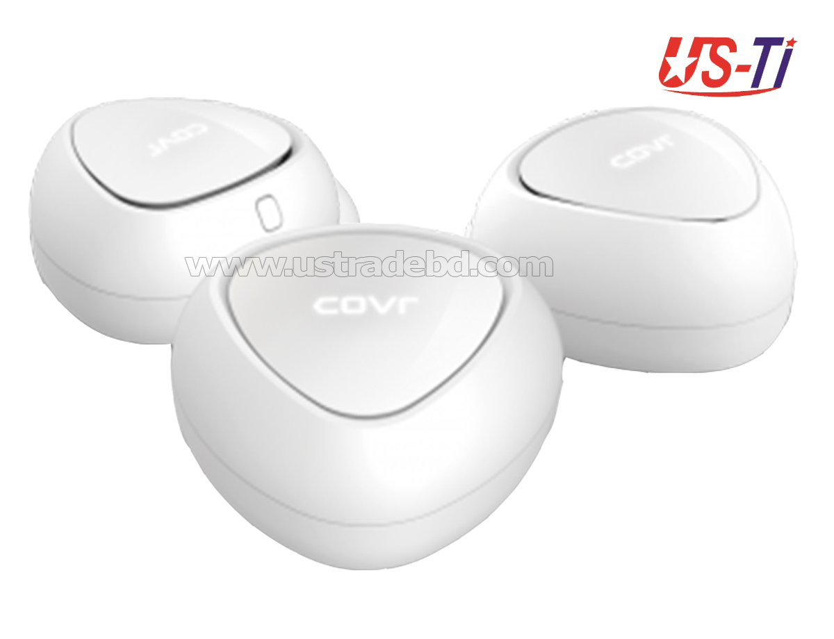D-Link COVR-C1203 (3 pack) AC1200 Wireless Dual-Band Whole Home Mesh Wi-Fi System Router