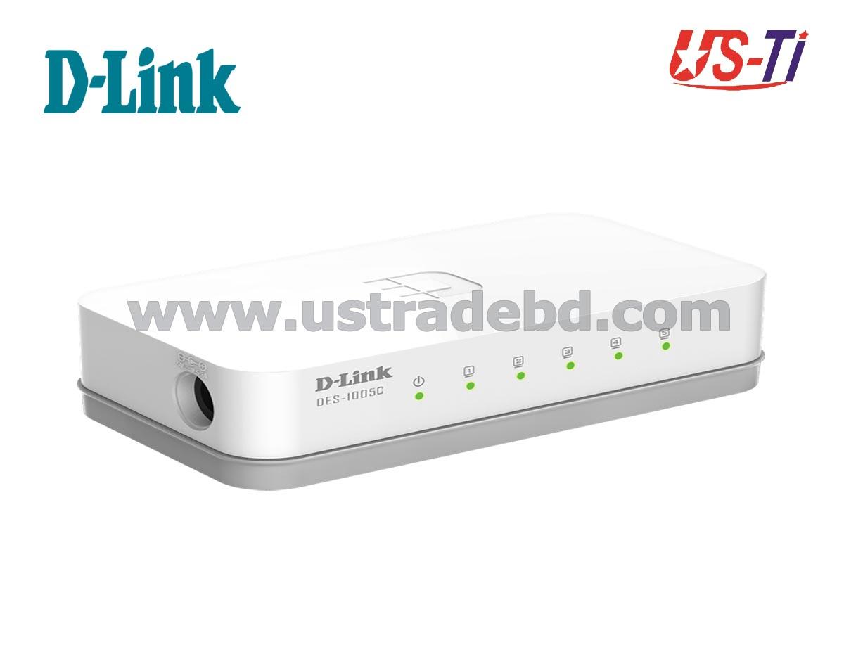 Dlink DES-1005C 5 Port 10/100M Unmanaged Desktop Switch
