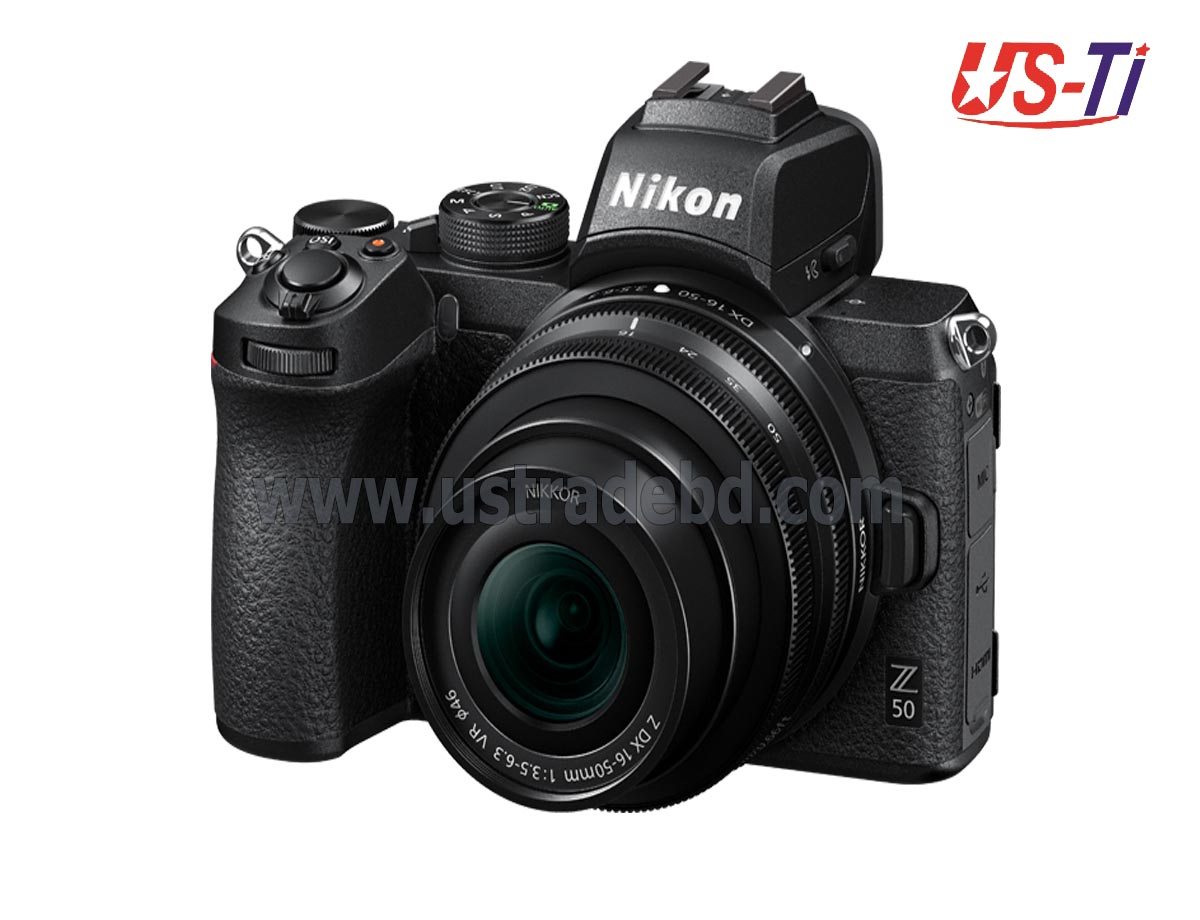 NIKON Z50 Mirrorless Wi-Fi Digital Camera with 16-50mm Lens and FTZ Adapter
