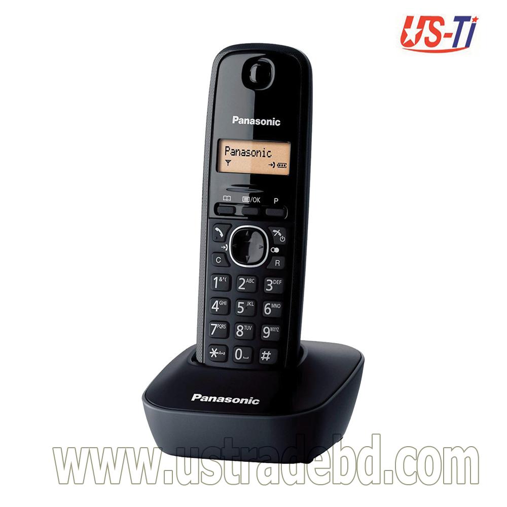 Panasonic KX-TG1611 Cordless Black Phone Set