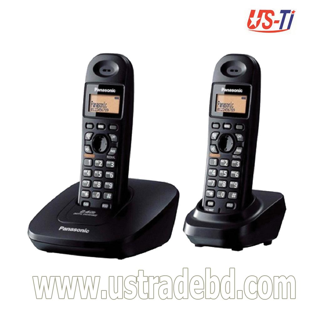 Panasonic KX-TG3612 Cordless Black Phone Set