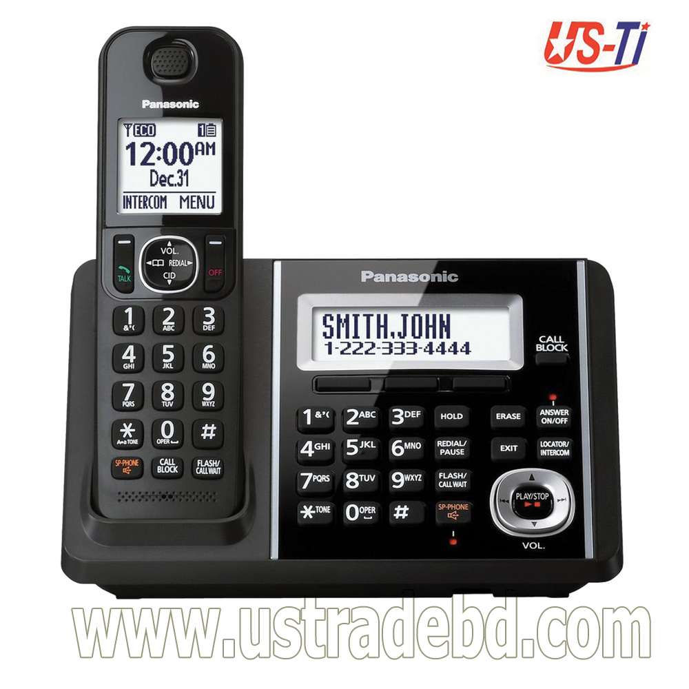 Panasonic KX-TGF340 Digital Cordless Black Phone Set with Answering System