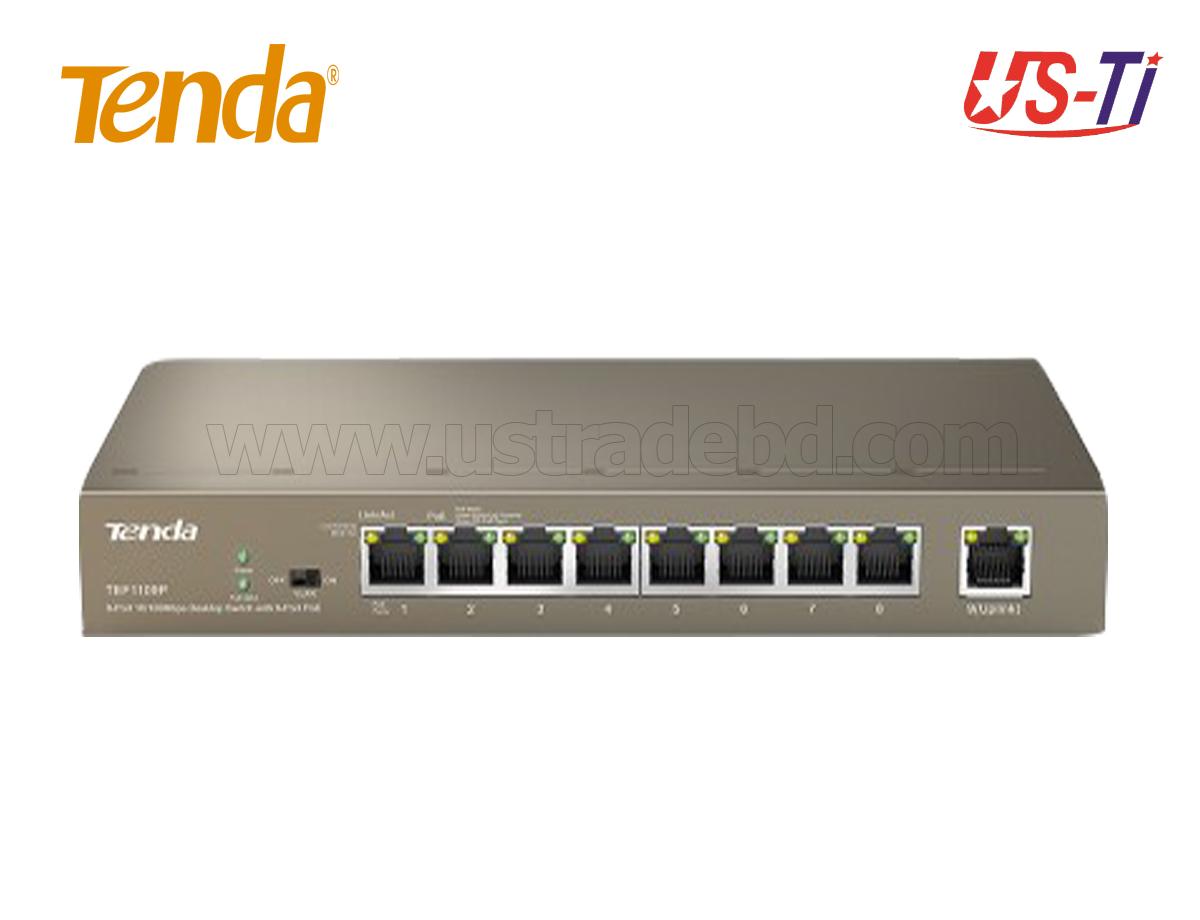 Tenda TEF1109P 9 Port (8-Port PoE) 10/100Mbps Desktop Switch