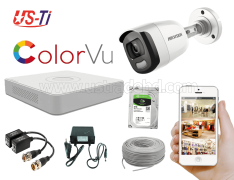 24 Hours Colour Hikvision 1pc camera Package