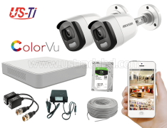 24 Hours Colour Hikvision 2pc camera Package