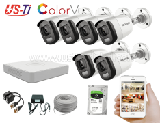 24 Hours Colour Hikvision 6pc camera Package