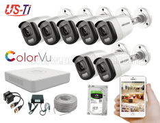 24 Hours Colour Hikvision 7pc camera Package
