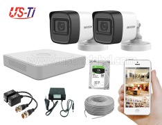 2MP Hikvision 2 Full HD Audio camera CCTV Package