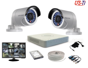 2MP Hikvision 2 Full HD CCTV Package with Monitor