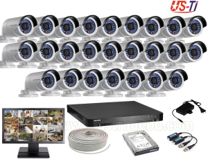 2MP Hikvision 25 Full HD CCTV Package With Monitor
