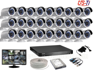 2MP Hikvision 27 Full HD CCTV Package With Monitor