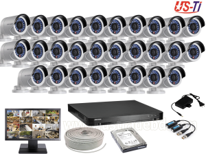 2MP Hikvision 28 Full HD CCTV Package With Monitor