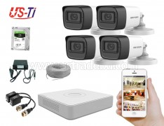 2MP Hikvision 4 Full HD Audio camera CCTV Package
