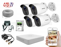 2MP Hikvision 4 Full HD Flash Detection Camera  CCTV Package