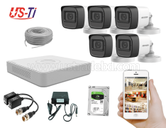 2MP Hikvision 5 Full HD Audio camera CCTV Package