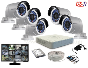 2MP Hikvision 5 Full HD CCTV Package with Monitor