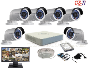 2MP Hikvision 6 Full HD CCTV Package with Monitor