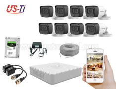 2MP Hikvision 8 Full HD Audio camera CCTV Package