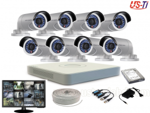 2MP Hikvision 8 Full HD CCTV Package With Monitor