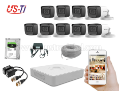 2MP Hikvision 9 Full HD Audio camera CCTV Package