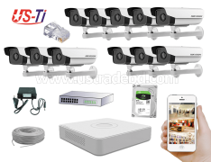 2MP IP Hikvision 11pc camera Package
