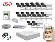 2MP IP Hikvision 14pc camera Package
