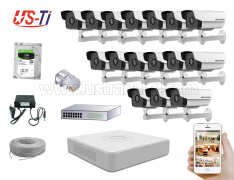 2MP IP Hikvision 16pc camera Package
