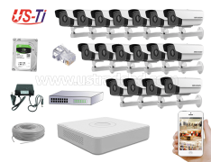 2MP IP Hikvision 17pc camera Package