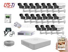 2MP IP Hikvision 18pc camera Package