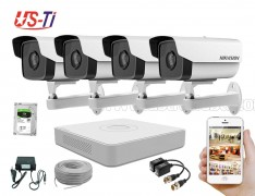 2MP IP Hikvision 4pc camera Package