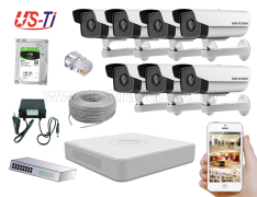 2MP IP Hikvision 7pc camera Package