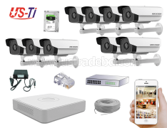 2MP IP Hikvision 9pc camera Package