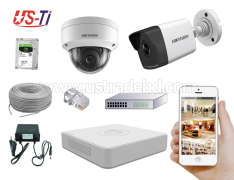 4MP IP Hikvision 2pc camera Package