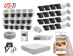 4MP IP Hikvision 30pc camera Package