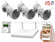 Wifi Outdoor 3pc Hikvision EZVIZ IP Camera Package