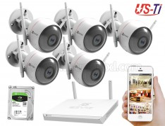 Wifi Outdoor 5pc Hikvision EZVIZ IP Camera Package