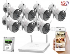 Wifi Outdoor 7pc Hikvision EZVIZ IP Camera Package