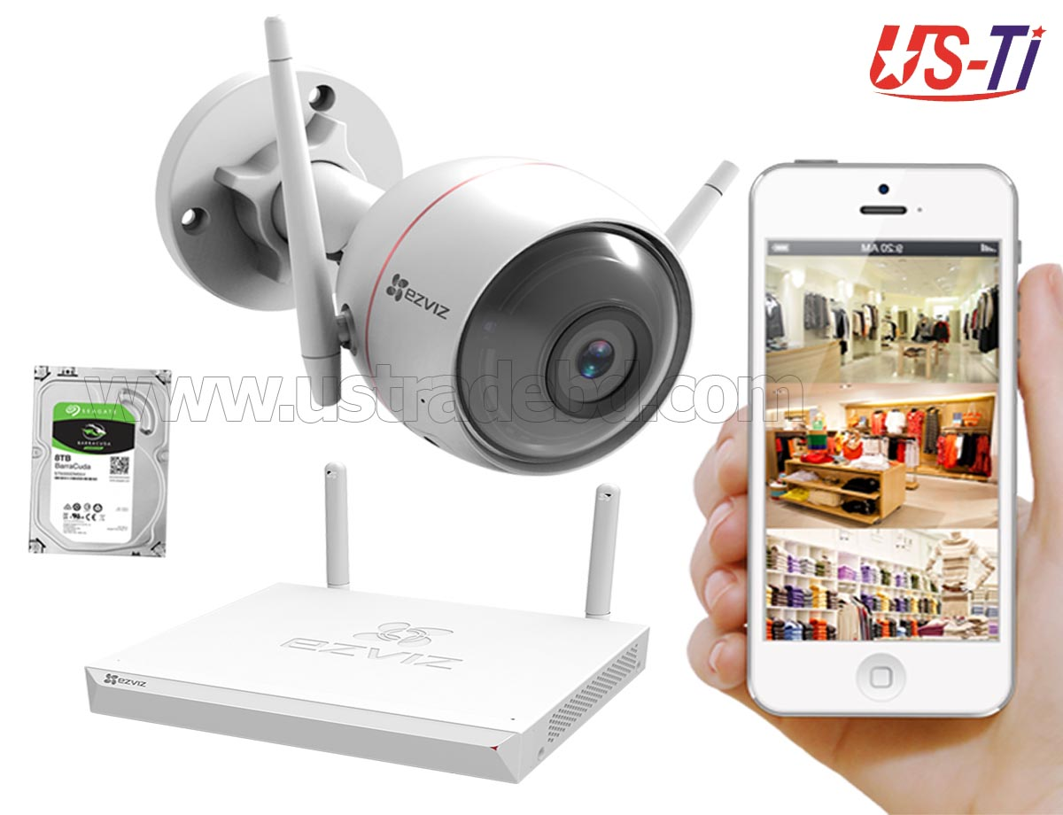 Wifi Outdoor 1pc Hikvision EZVIZ IP Camera Package